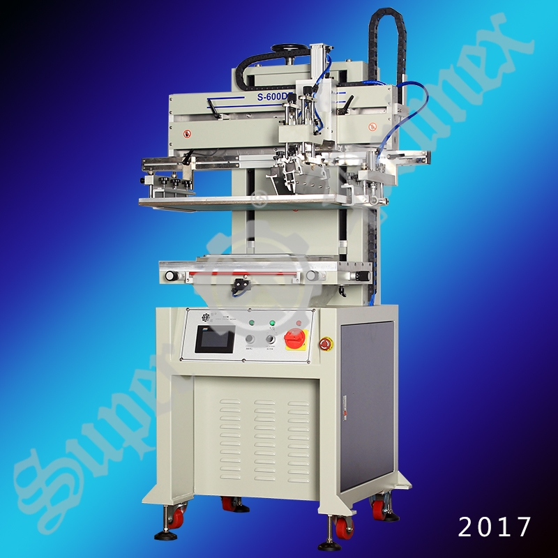 S-600DF Pneumatic Flat Screen Printer with vacuum table